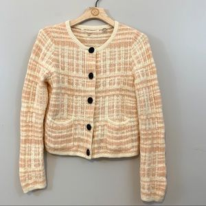 Anthropologie Knitted & Knotted Tweed Cardigan